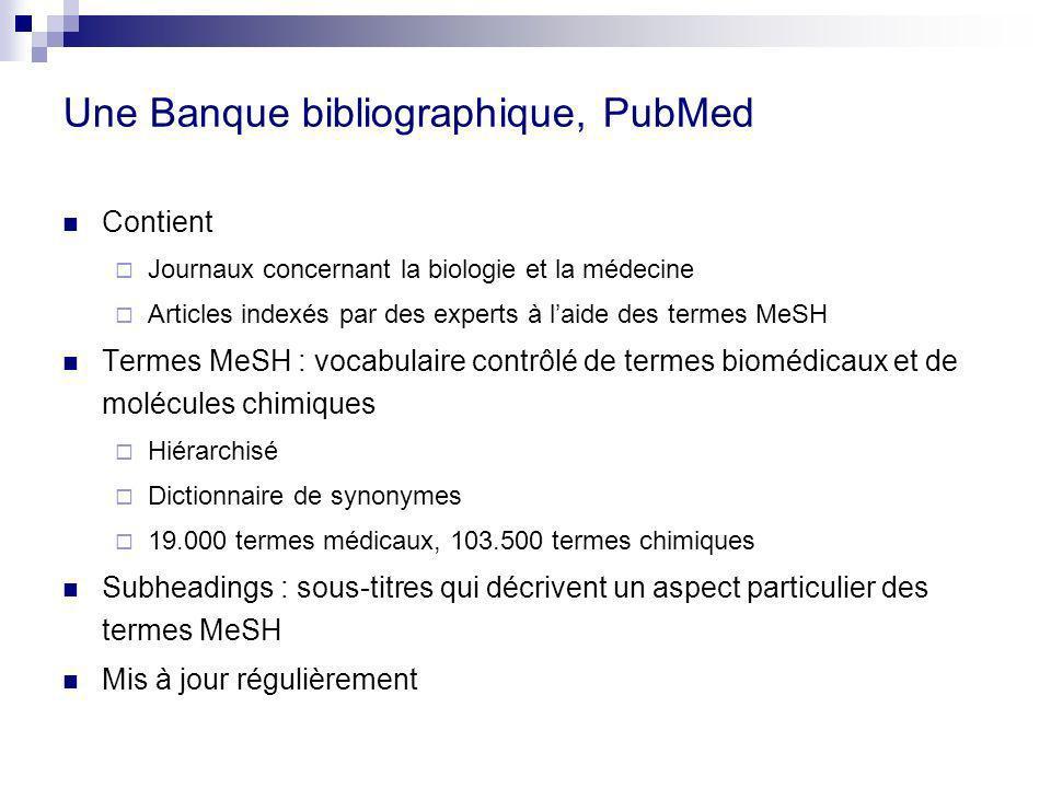Une Banque bibliographique, PubMed