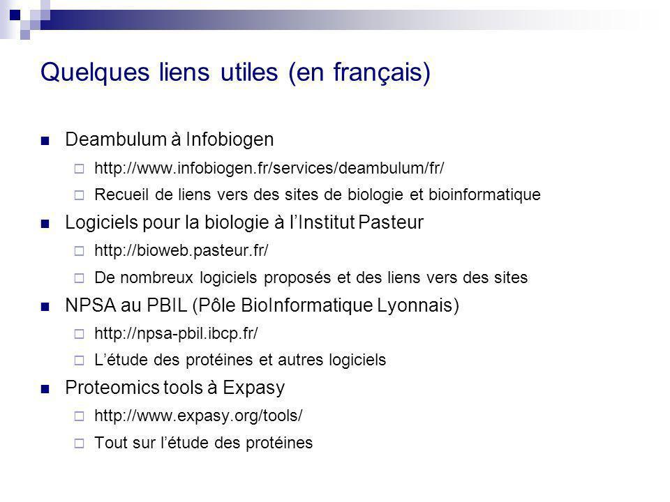 Quelques liens utiles (en français)