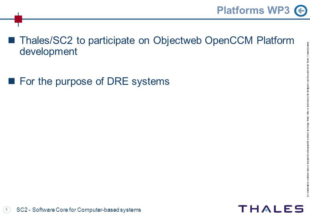 Thales/SC2 to participate on Objectweb OpenCCM Platform development