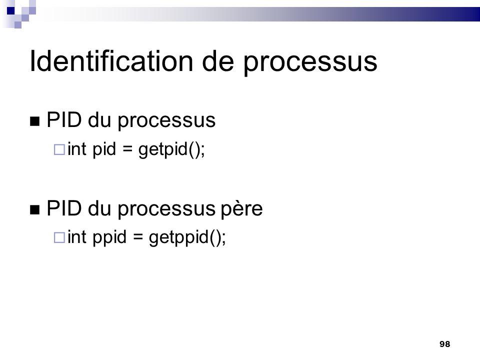 Identification de processus