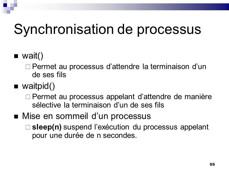 Synchronisation de processus