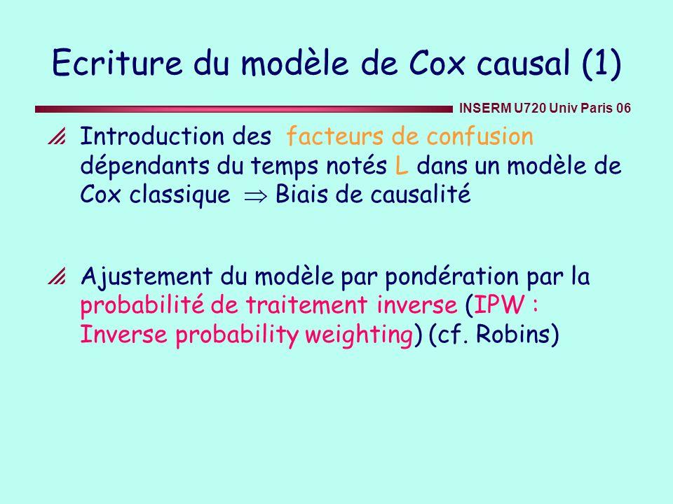 Ecriture du modèle de Cox causal (1)