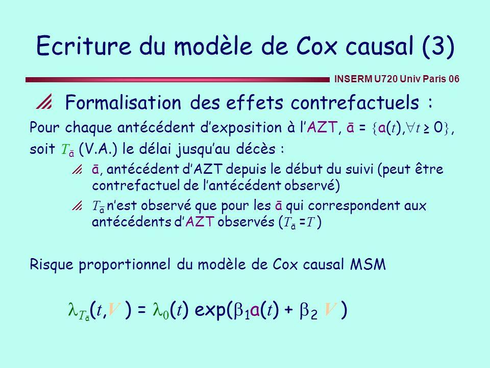Ecriture du modèle de Cox causal (3)