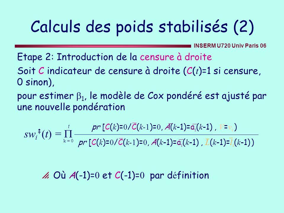 Calculs des poids stabilisés (2)