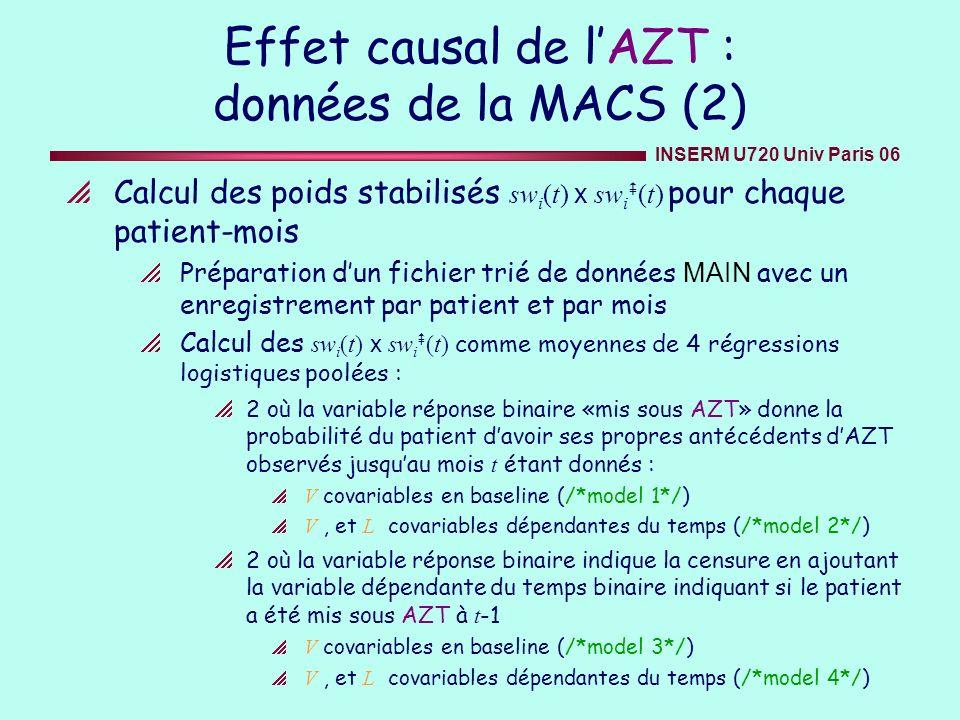 Effet causal de l'AZT : données de la MACS (2)