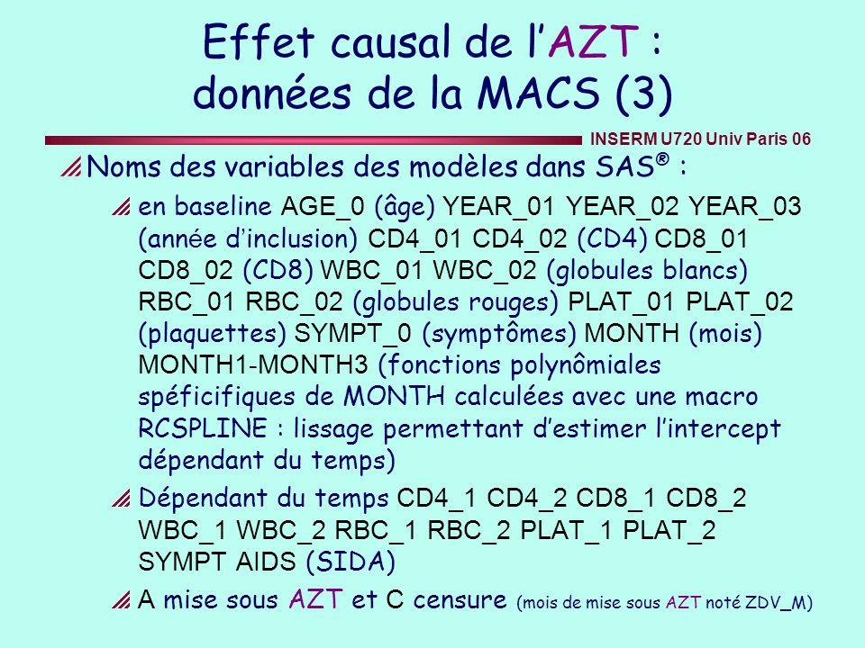 Effet causal de l'AZT : données de la MACS (3)