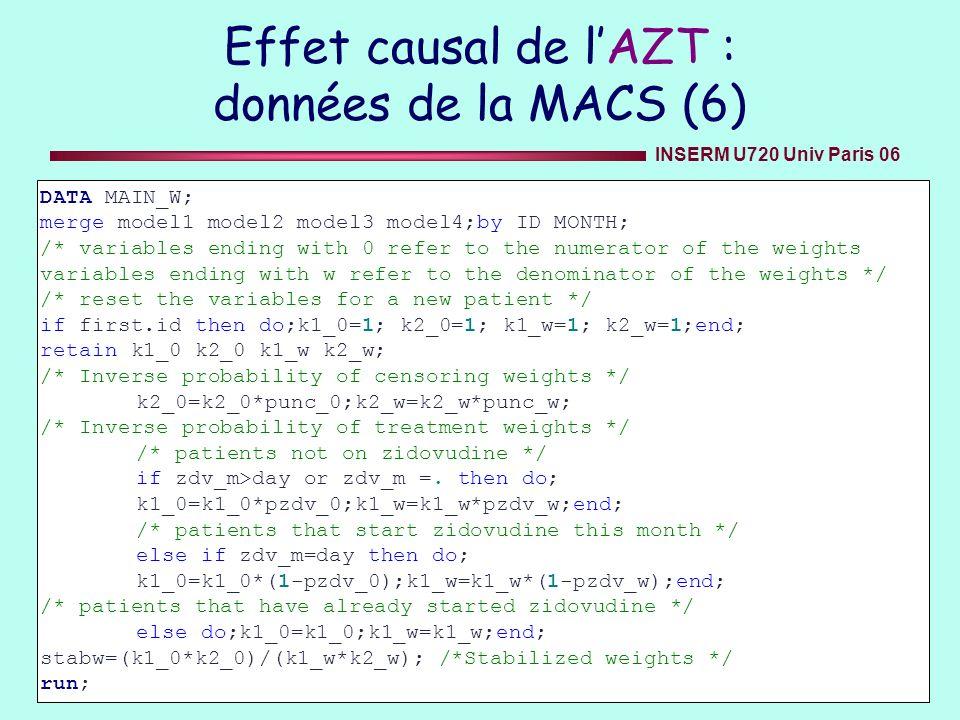 Effet causal de l'AZT : données de la MACS (6)