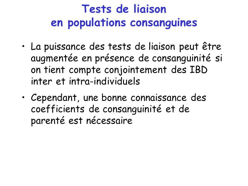 Tests de liaison en populations consanguines