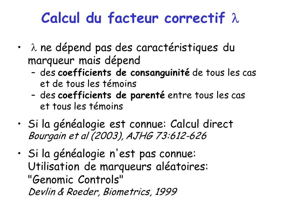 Calcul du facteur correctif l