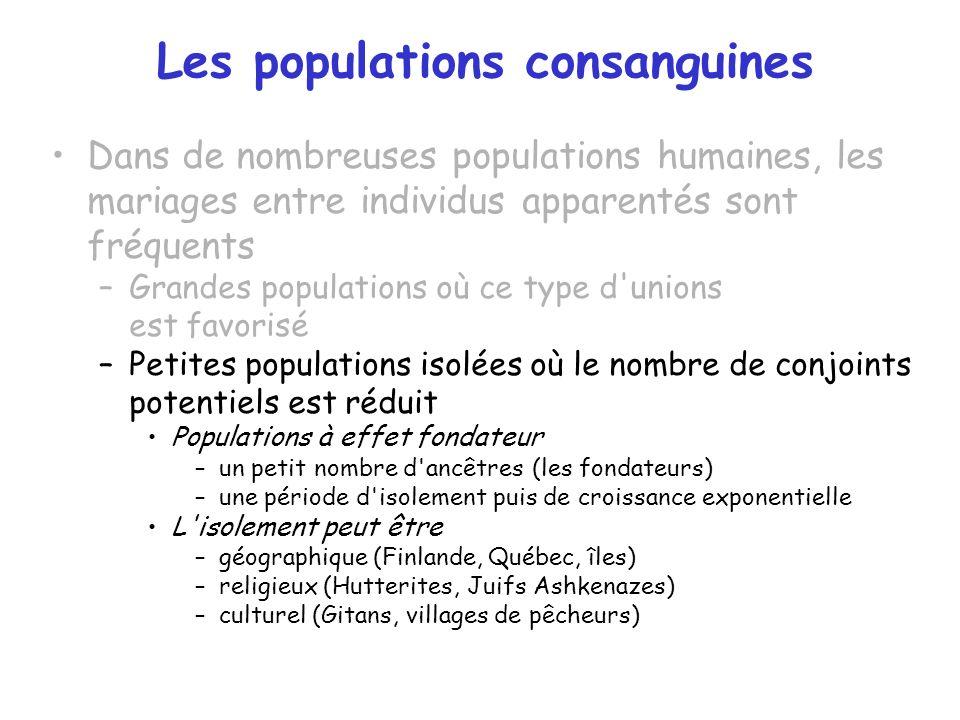 Les populations consanguines