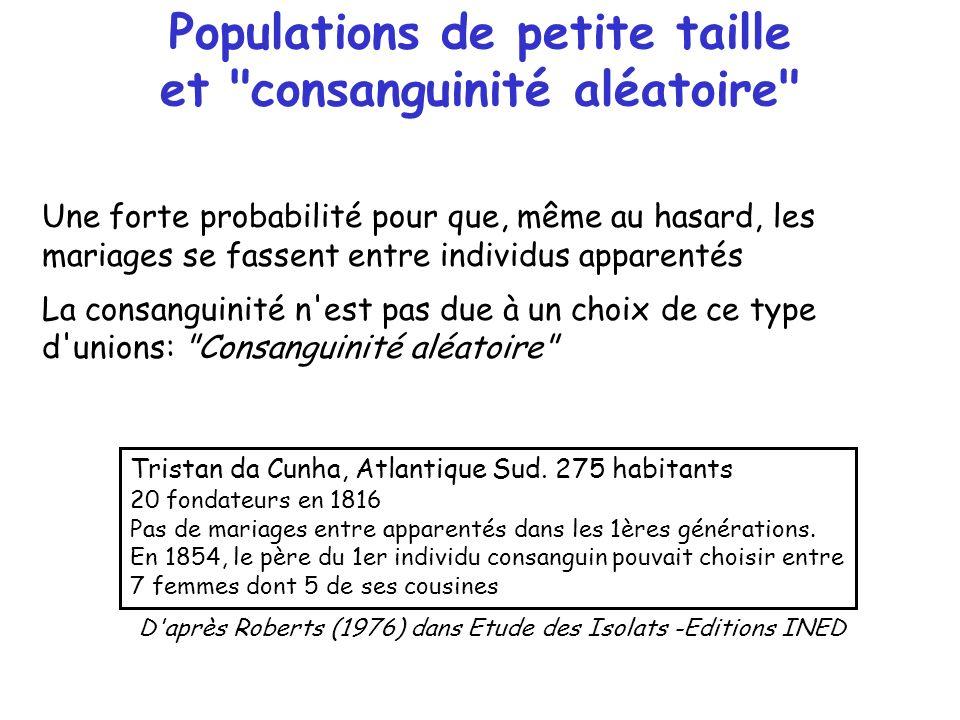 Populations de petite taille et consanguinité aléatoire