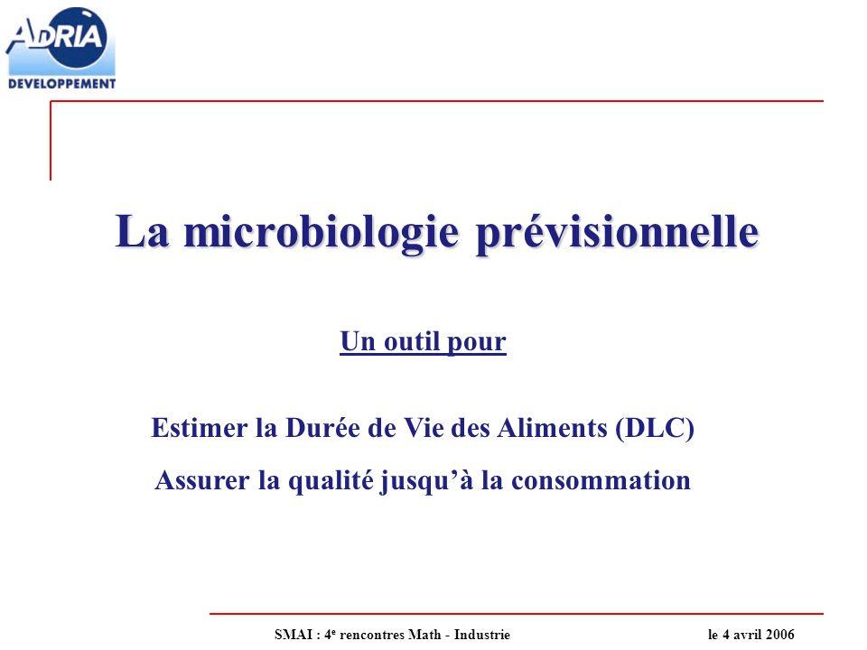 La microbiologie prévisionnelle
