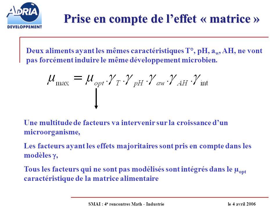 Prise en compte de l'effet « matrice »