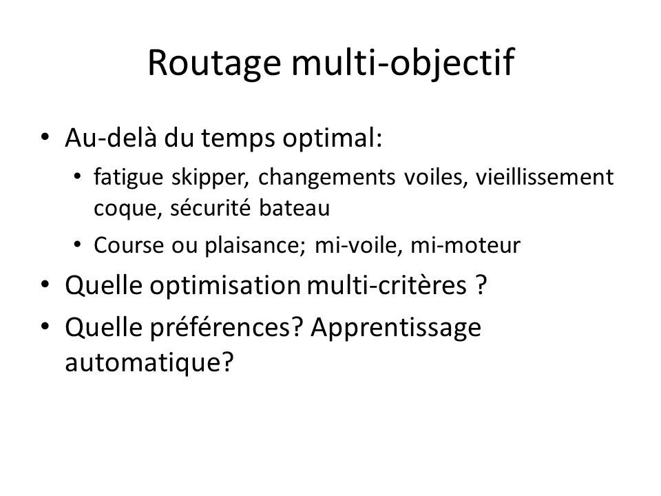 Routage multi-objectif