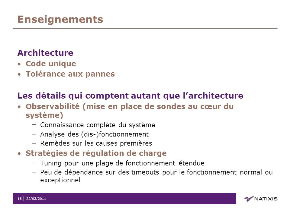 Enseignements Architecture
