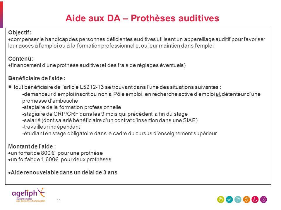 Aide aux DA – Prothèses auditives