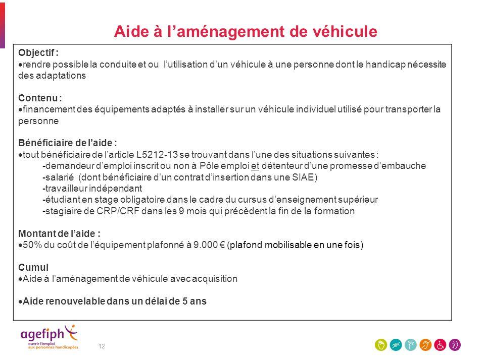 Aide à l'aménagement de véhicule
