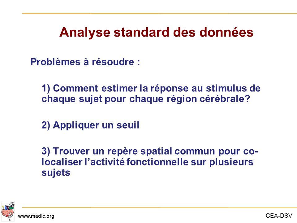 Analyse standard des données