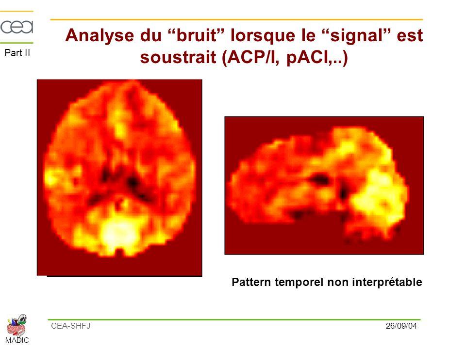 Analyse du bruit lorsque le signal est soustrait (ACP/I, pACI,..)