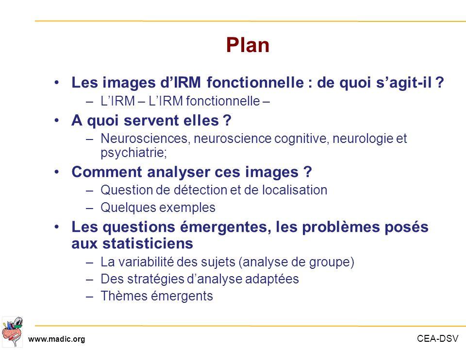 Plan Les images d'IRM fonctionnelle : de quoi s'agit-il