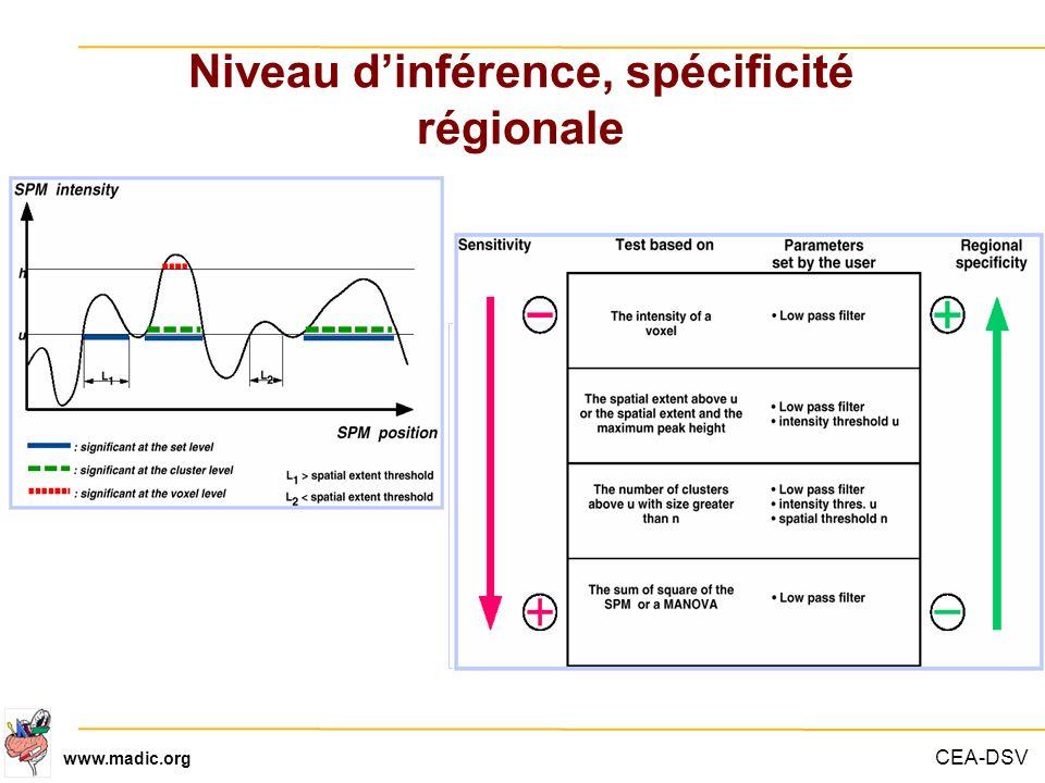 Niveau d'inférence, spécificité régionale