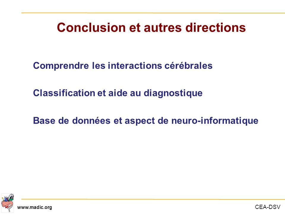 Conclusion et autres directions