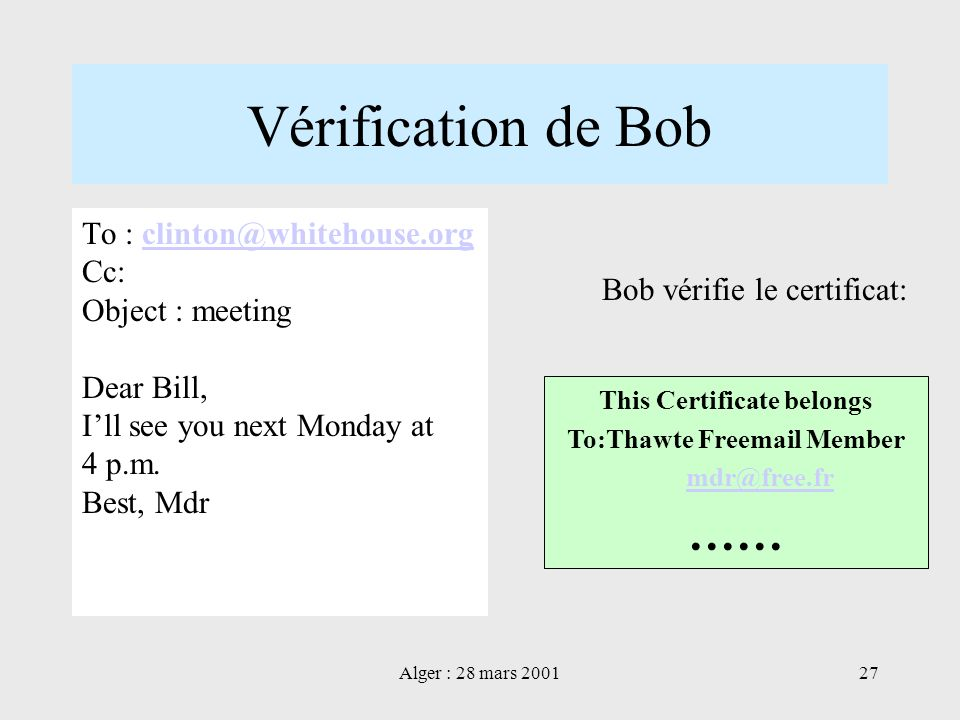 This Certificate belongs To:Thawte Freemail Member