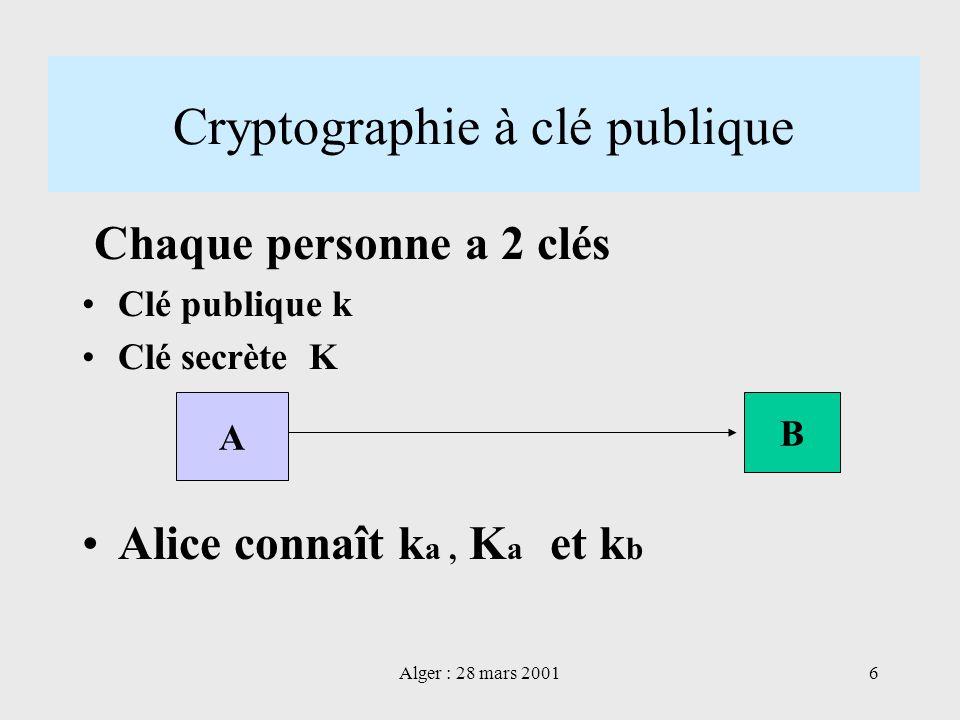 Cryptographie à clé publique