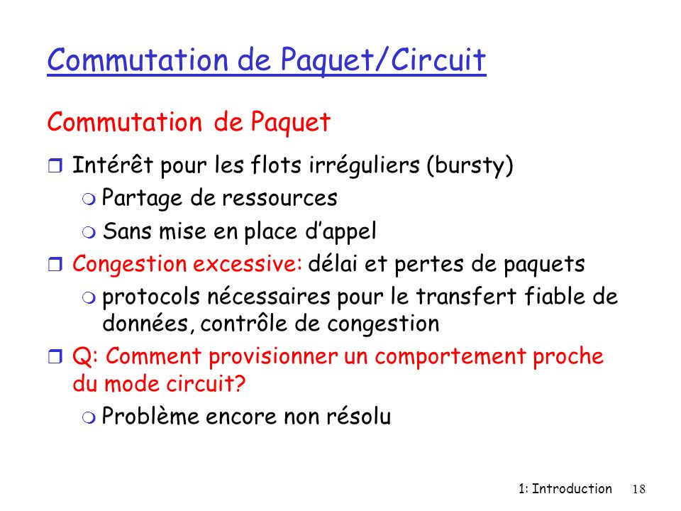 Commutation de Paquet/Circuit