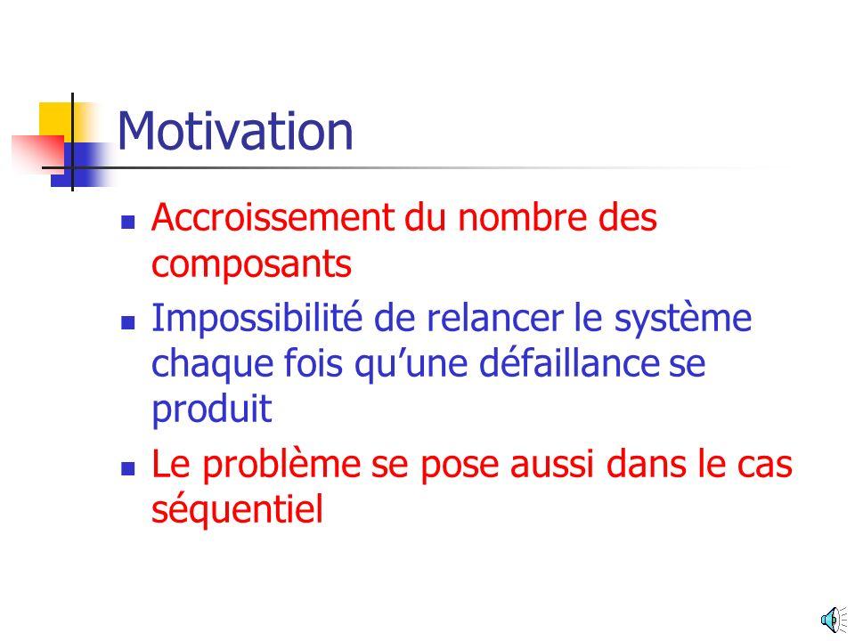 Motivation Accroissement du nombre des composants