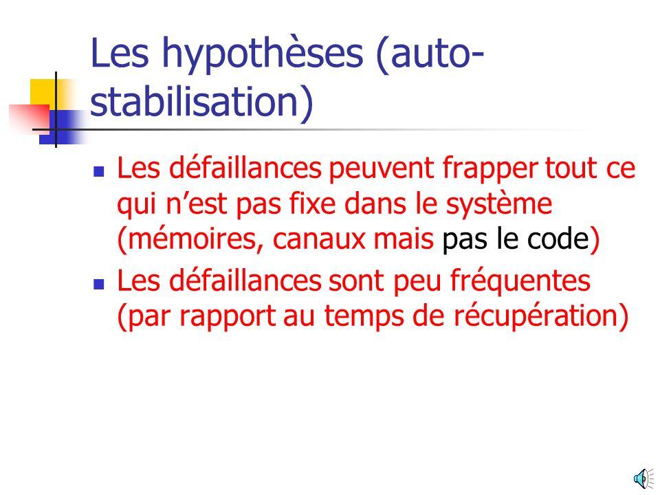 Les hypothèses (auto-stabilisation)