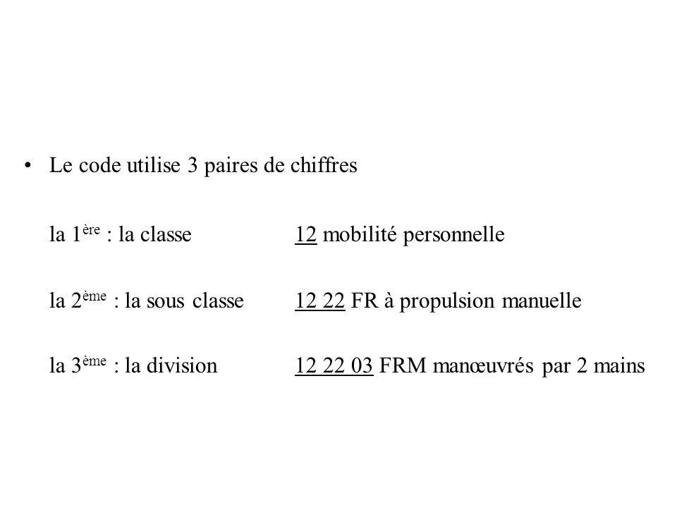 la 1ère : la classe 12 mobilité personnelle