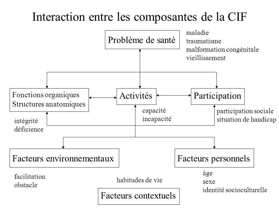 Interaction entre les composantes de la CIF