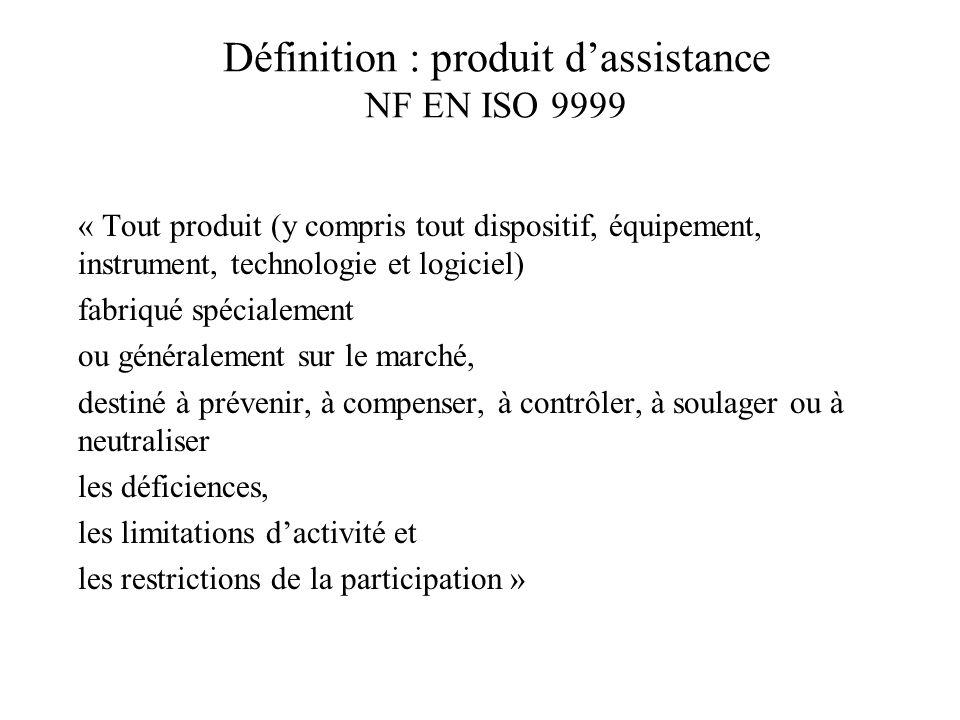 Définition : produit d'assistance NF EN ISO 9999