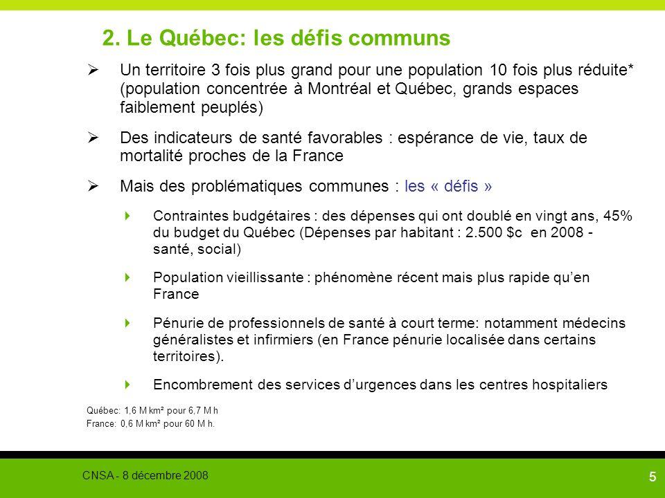 2. Le Québec: les défis communs