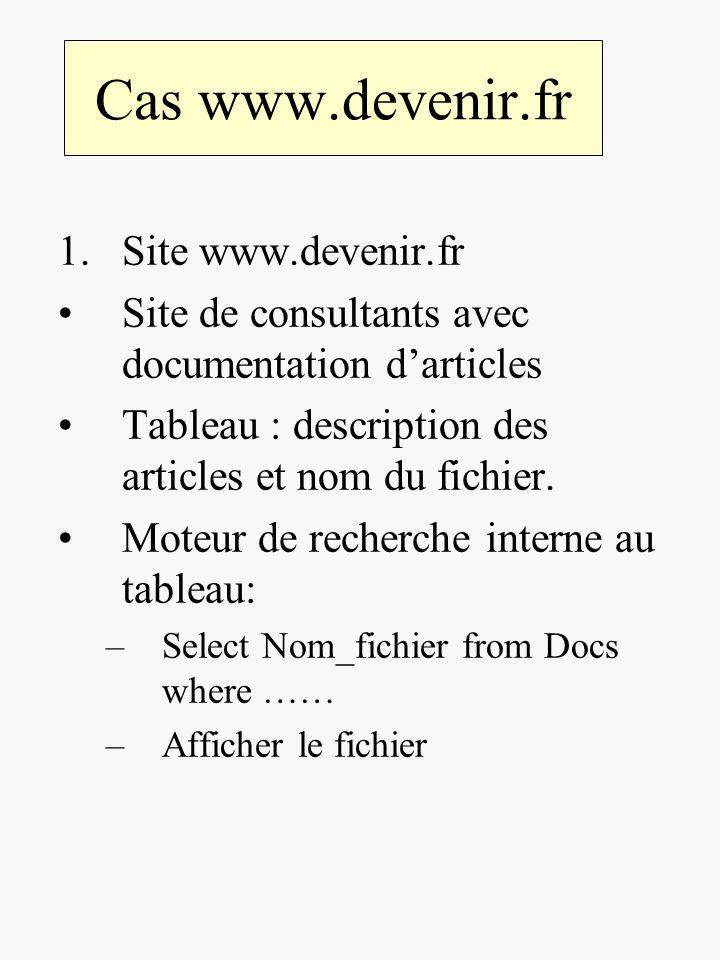 Cas www.devenir.fr Site www.devenir.fr