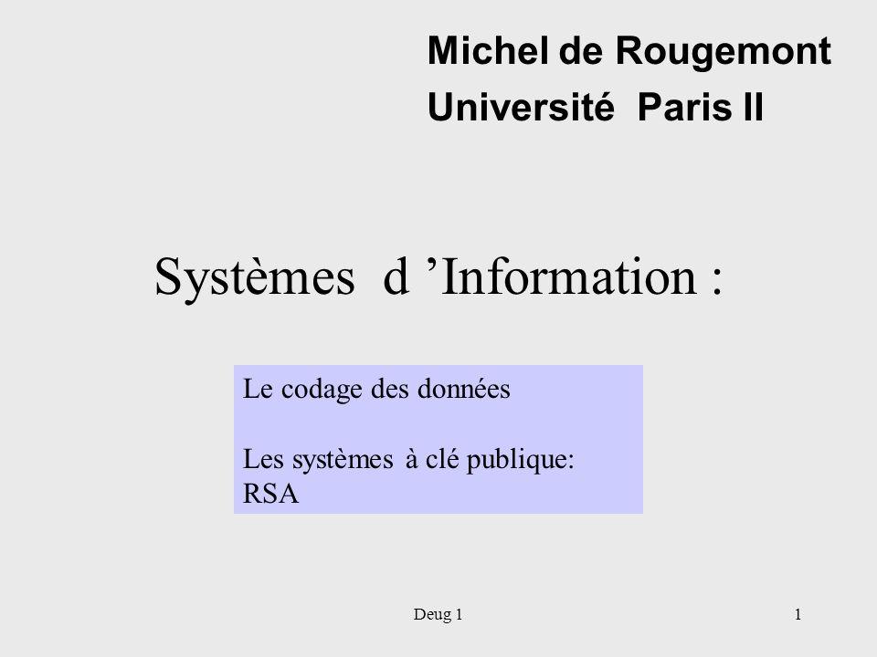 Systèmes d 'Information :