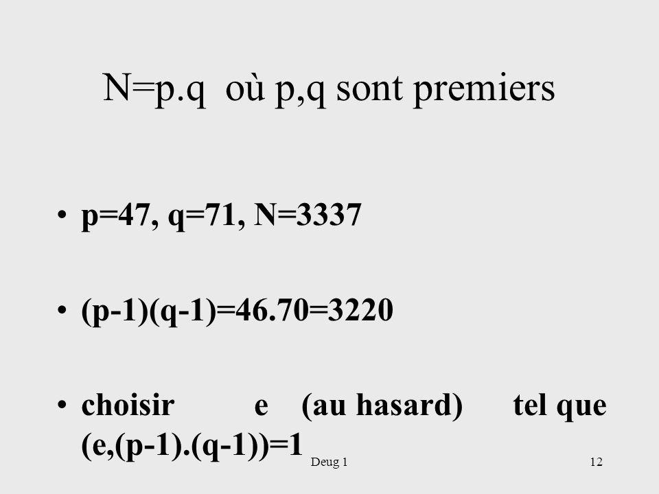 N=p.q où p,q sont premiers