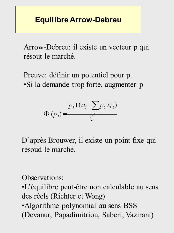 Equilibre Arrow-Debreu