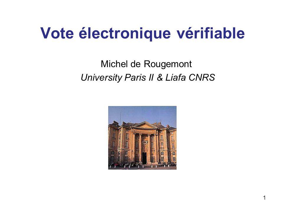 Vote électronique vérifiable
