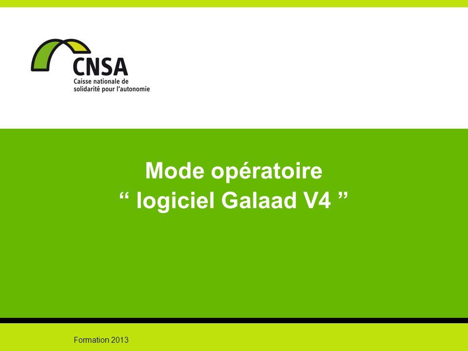Mode opératoire logiciel Galaad V4