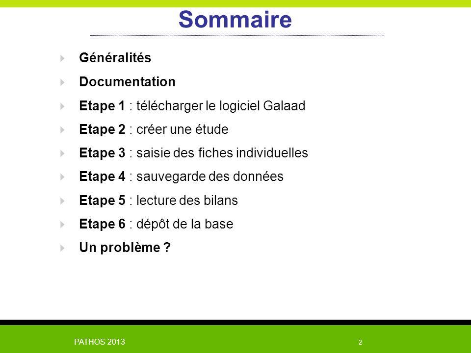 Sommaire Généralités Documentation