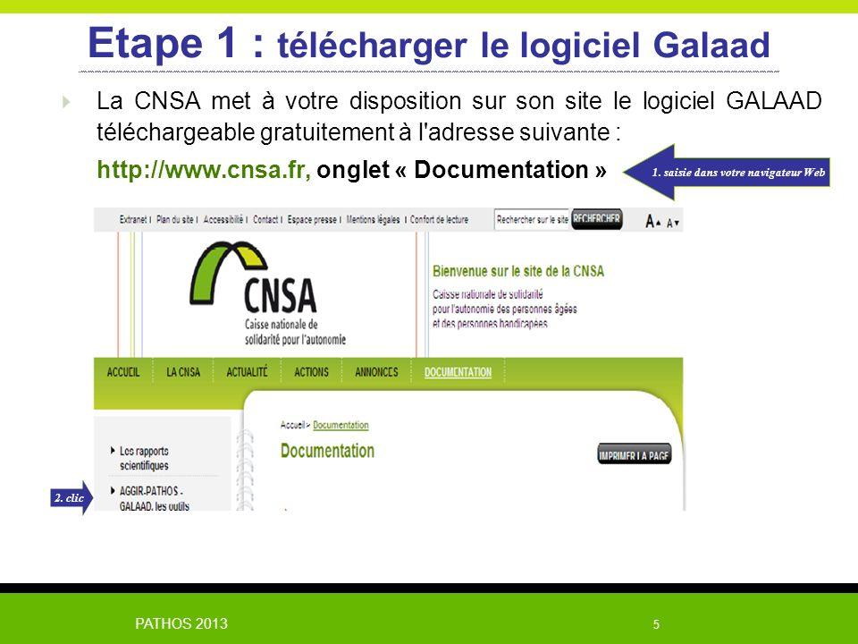 Etape 1 : télécharger le logiciel Galaad