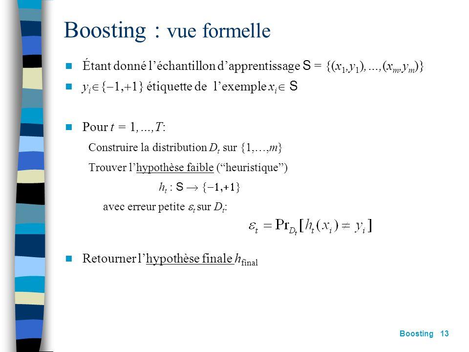 Boosting : vue formelle