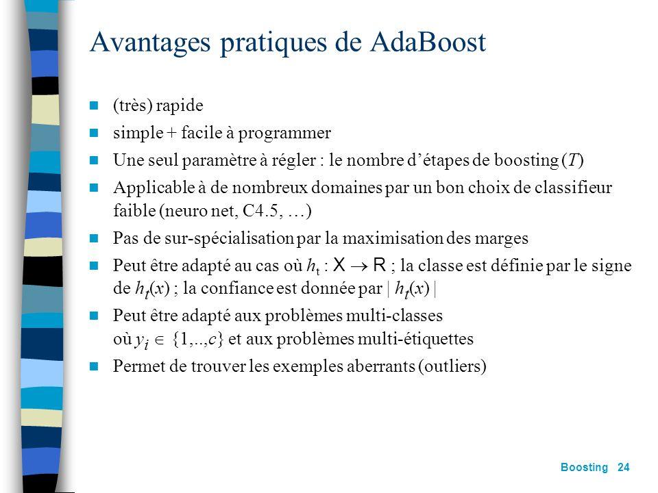 Avantages pratiques de AdaBoost