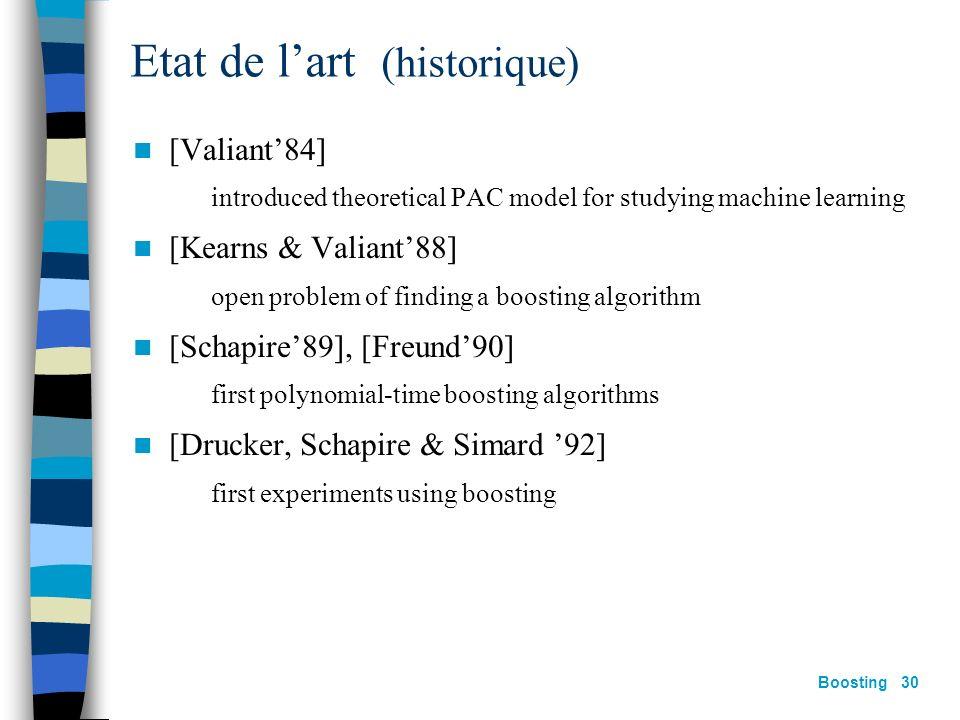Etat de l'art (historique)