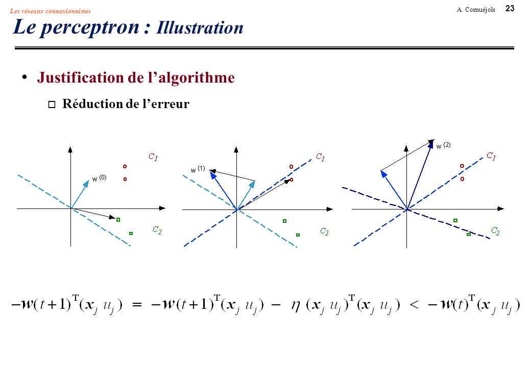 Le perceptron : Illustration