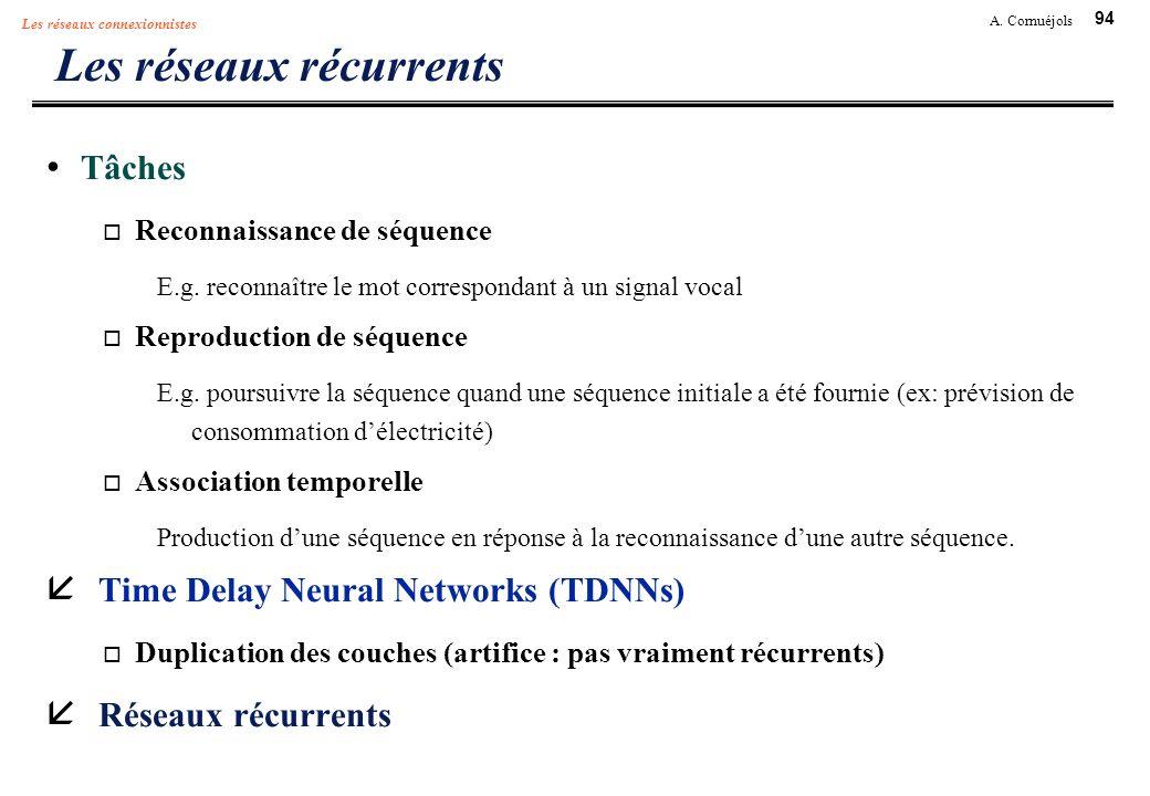 Les réseaux récurrents