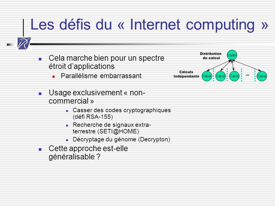 Les défis du « Internet computing »