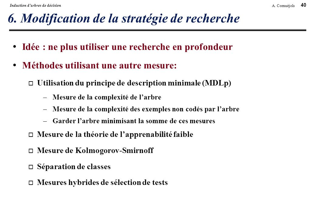 6. Modification de la stratégie de recherche